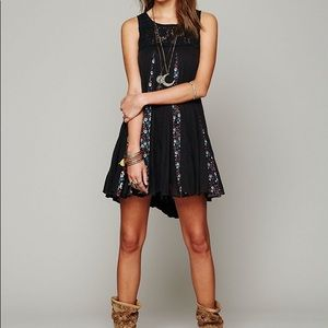Rare Free People One Annabella Dress in Black